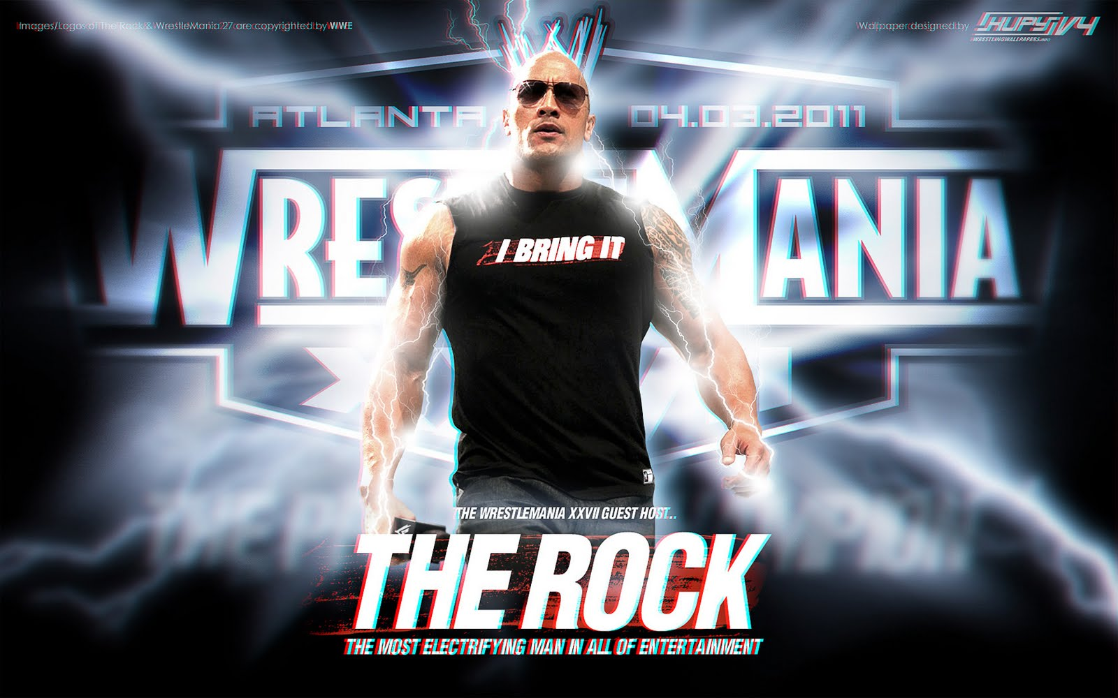 The rock new wallpapers wrestling raw smack down - Rock wallpaper ...